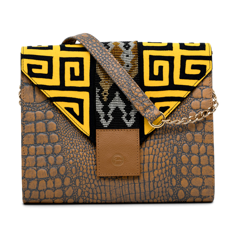 Mix and Match - Brown Envelope Clutch