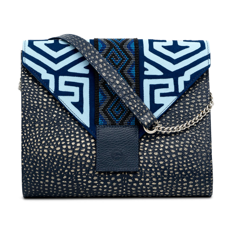 Mix and Match - Navy Envelope Clutch