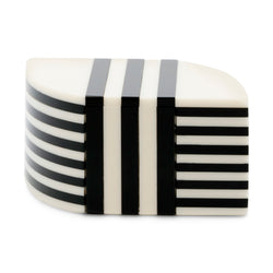 Aurora PM Striped Box - Ivory