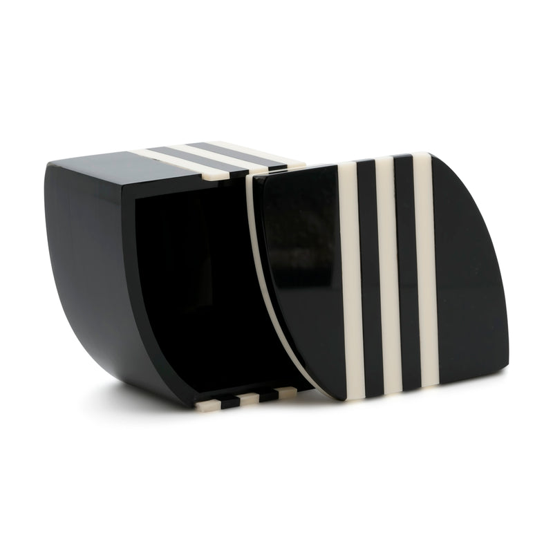 Aurora PM Striped Box - Black