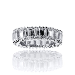 Emerald Cut Eternity Band Ring – 5.25 CTW