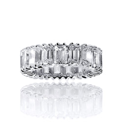 Asscher Cut Eternity Band Ring – 8 CTW