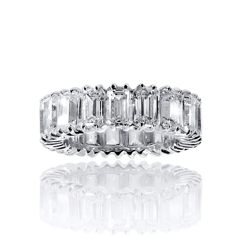 Asscher Cut Eternity Band Ring - 6.5 CTW