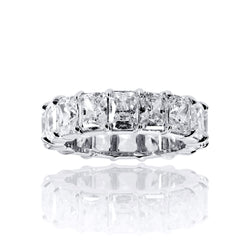 Radiant Cut Eternity Band Ring - 6.5 CTW