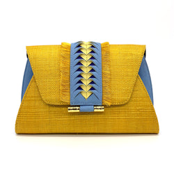 Victoria Fringed Clutch - Yellow