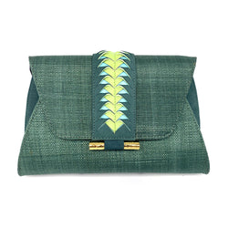 Victoria Clutch - Dark Green