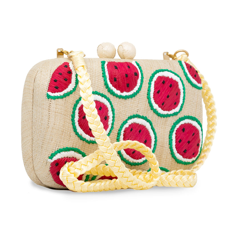 Watermelon Clutch - Cream