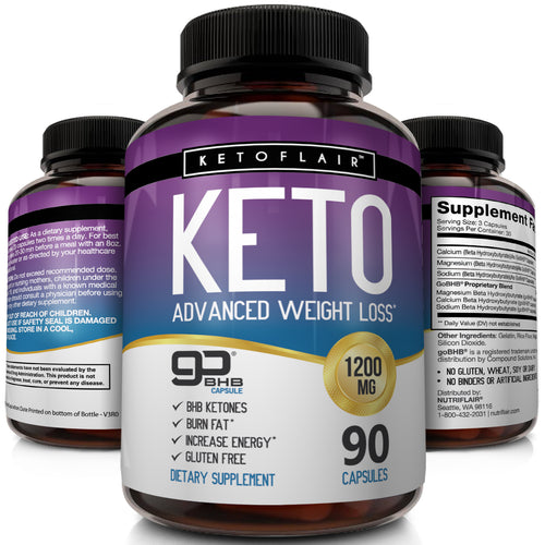 Keto Diet Pills GoBHB® 1200mg, 90 Capsules