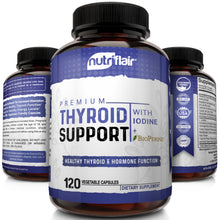 Premium Thyroid Support with Iodine and BioPerine - 120 Capsules - NutriFlair