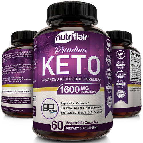Keto Diet Pills with GoBHB® 1600mg, 60 Capsules