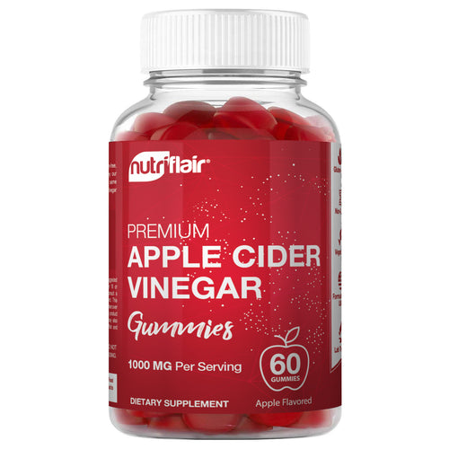 Apple Cider Vinegar Gummies 1000mg - 60 Gummies - NutriFlair