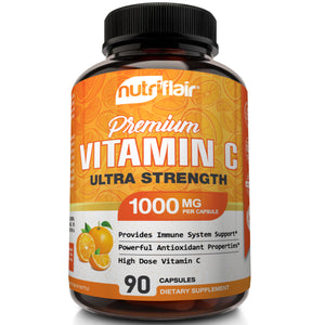 Pure Vitamin C 1000mg - 90 Capsules - NutriFlair