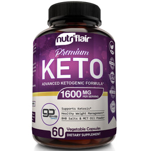 Keto Diet Pills with GoBHB® 1600mg, 60 Capsules - NutriFlair
