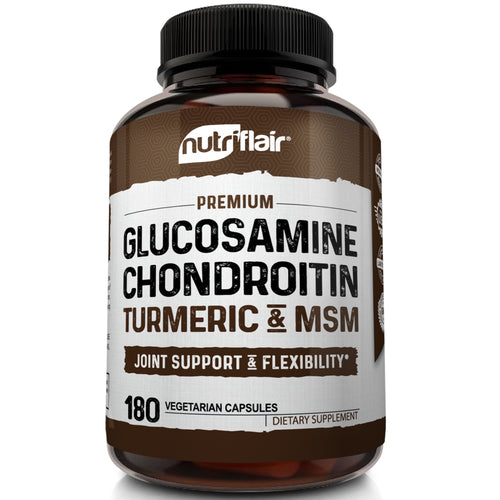 Glucosamine Chondroitin with Turmeric & MSM - 180 capsules - NutriFlair
