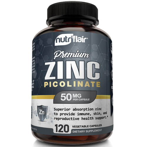 Zinc Picolinate 50mg - 120 Capsules - NutriFlair
