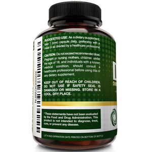 DIM Supplement 400mg with Bioperine - 120 Capsules - NutriFlair