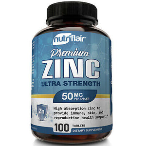 Zinc Gluconate 50mg - 100 Tablets - NutriFlair