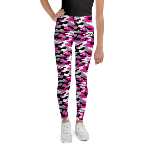 Pink/Black Camo - Youth Leggings