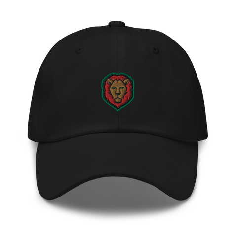 Lion - Red/Black/Green Dad Hat (2 colors)