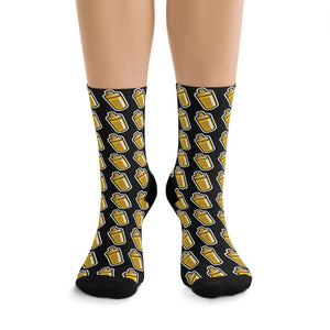 Sippy Cup (Jace Edition) Socks (black/gold)