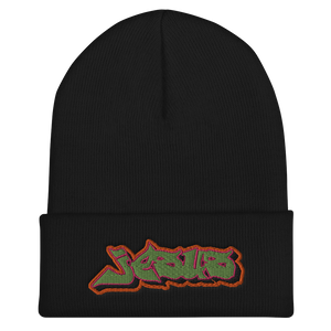 Jesus Graffiti Cuffed Beanie (3 colors)