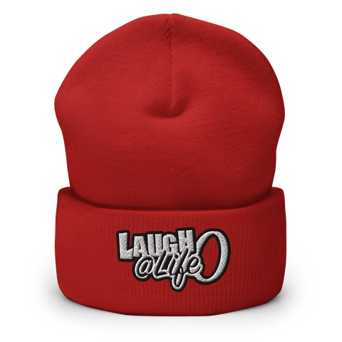 Laugh @ Life O - Mono Cuffed Beanie (5 colors)