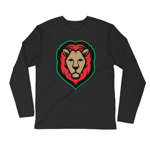 Lion - Red/Black/Green Long Sleeve T-shirt (2 colors)