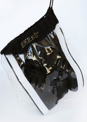 4 EKEES® Clear Shoe Bags - Drawstring, Dust Proof, Protective Shoe Bags