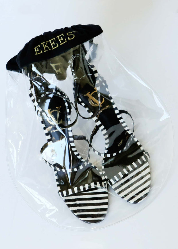 6 EKEES® Clear Shoe Bags - Drawstring, Dust Proof, Protective Shoe Bags