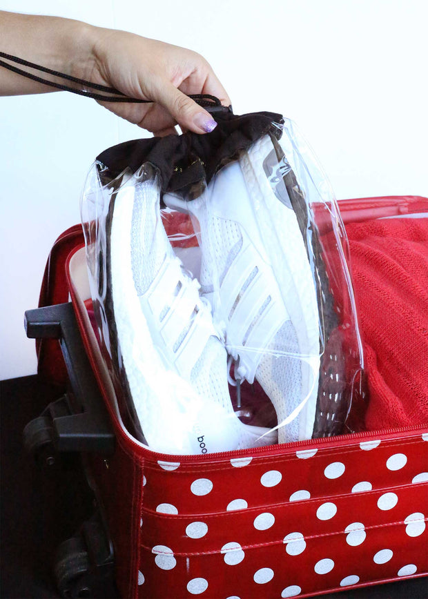 Travel Shoe Bags, Clear design protects shoes