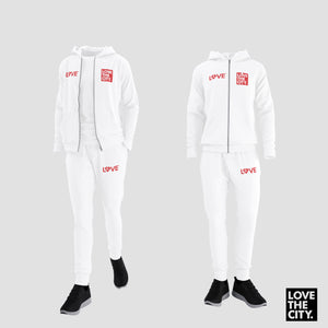 """BIG LOVE"" Jogger Set (White)"