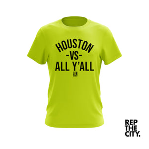 Electric Green Houston Vs All Y'all Tee
