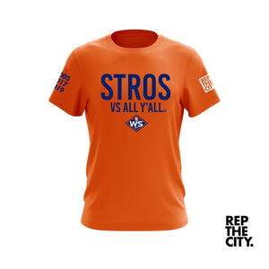 Stros Vs All Y'all WS 2019 Tee (Orange)