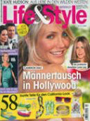 cover of Life and Style Magazine July 10, 2008 issue featuring Shari Wacks jewelry