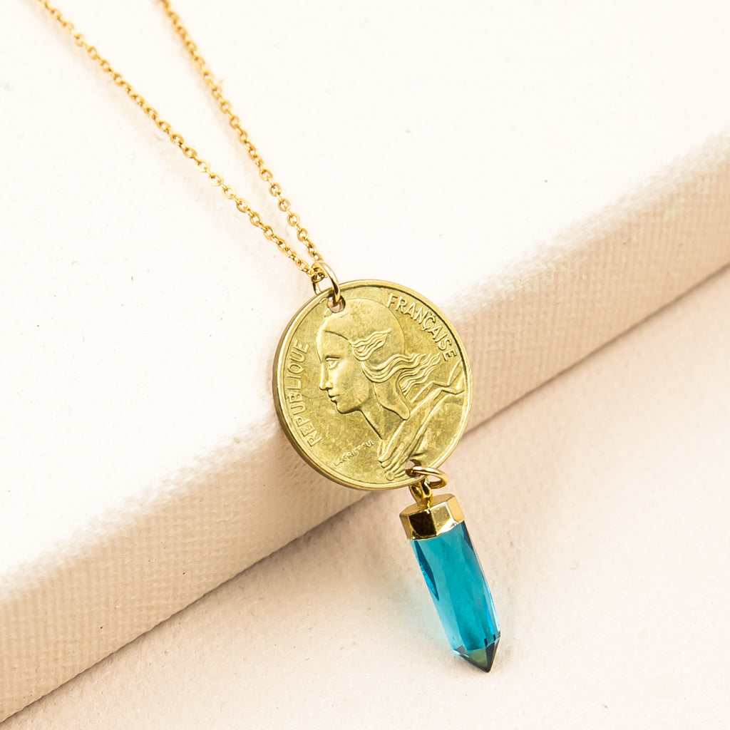 Freedom French Coin Necklace