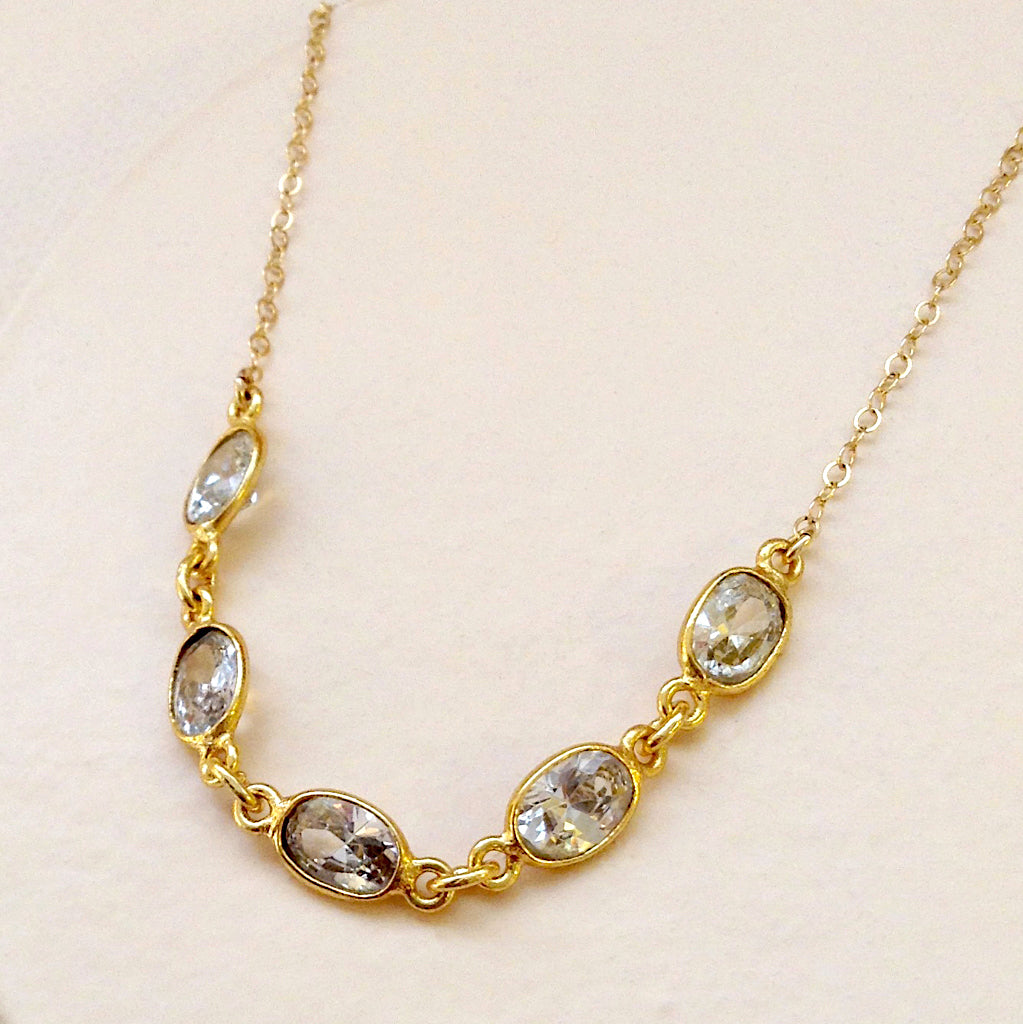 Faceted Cubic Zirconia Necklace