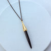Gold-Dipped Black Onyx Necklace