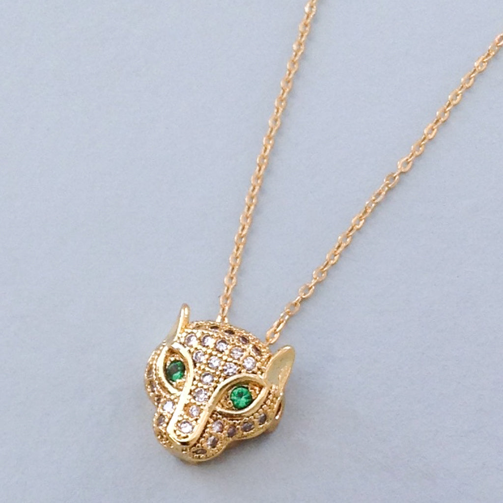 Petite Panther Pendant Necklace