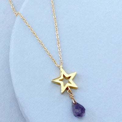 Star with Faceted Iolite Necklace