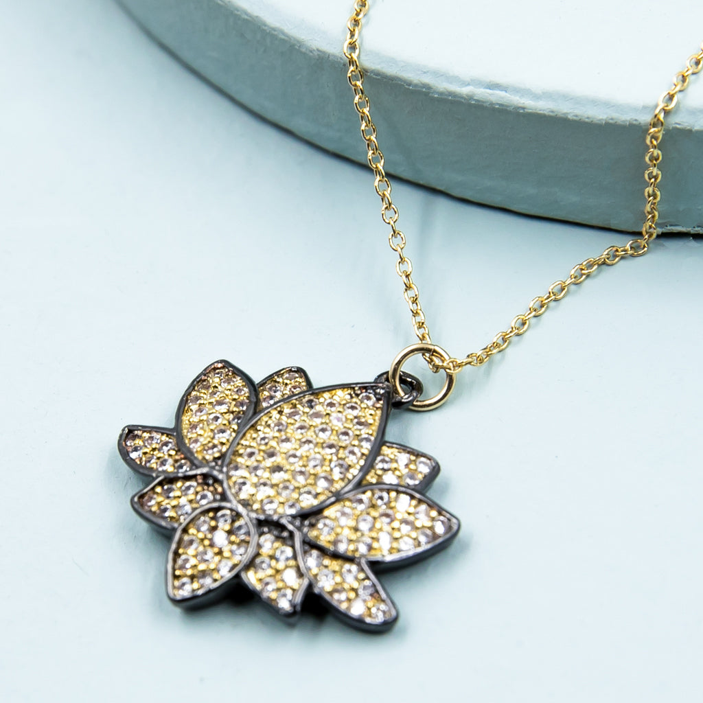 Lotus Two-Toned Necklace