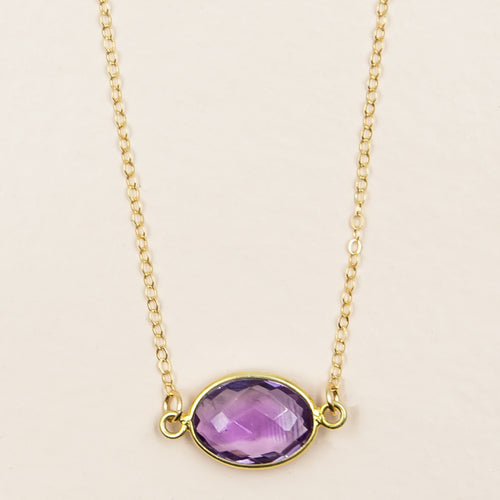 Faceted Light Amethyst Necklace