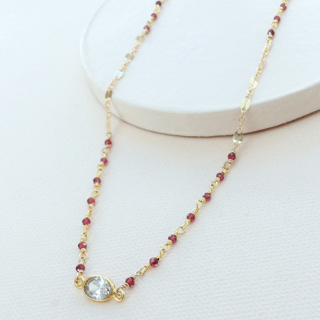 Garnet Sparkle Necklace