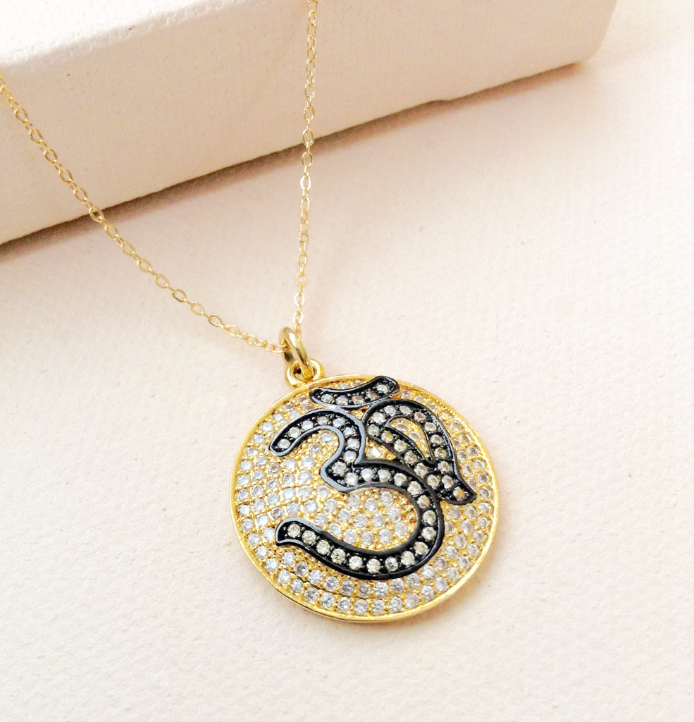 Two-Tone Om Necklace