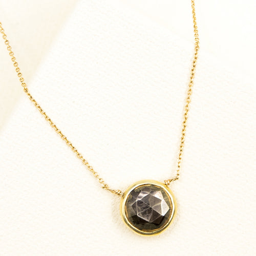 Pyrite Faceted Necklace