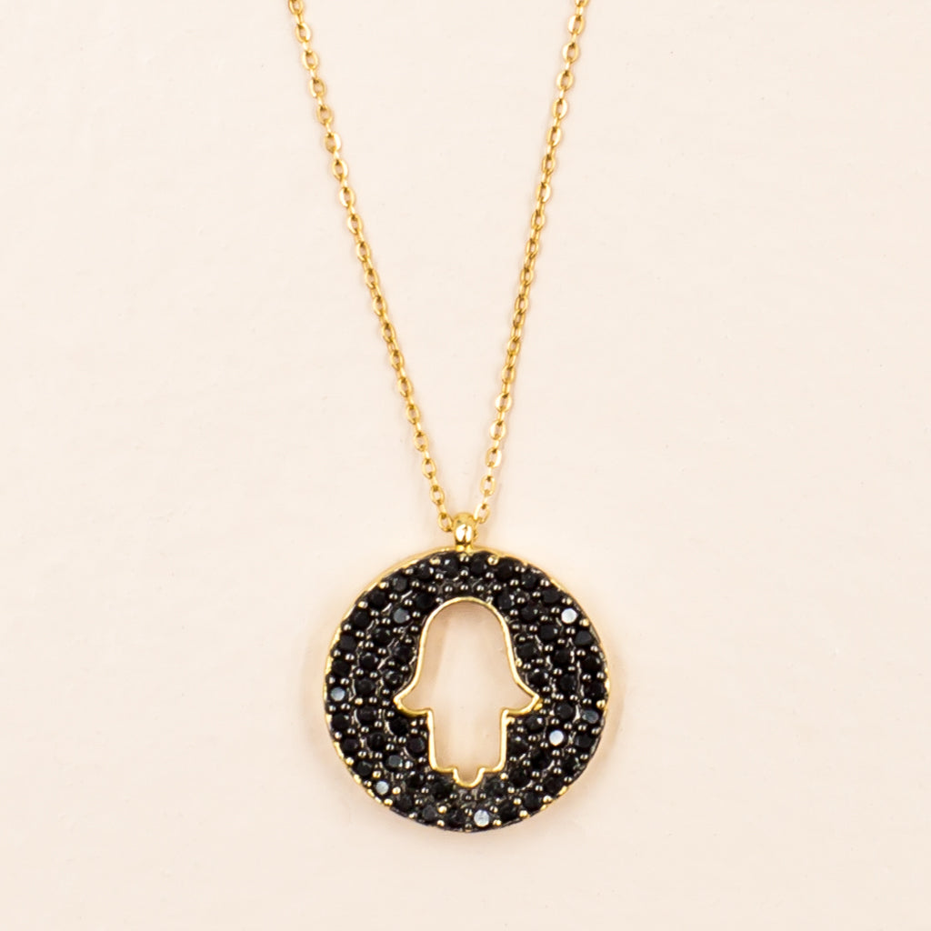 hamsa protection spiritual pendant chain necklace