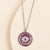 Silver and Fuchsia Evil Eye Necklace