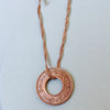 Vintage Pakistan Copper Coin Necklace