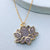 Enlightened cubic zirconia lotus flower meditation pendant necklace
