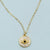evil eye with crystal cubic zirconia gold yoga pendant necklace