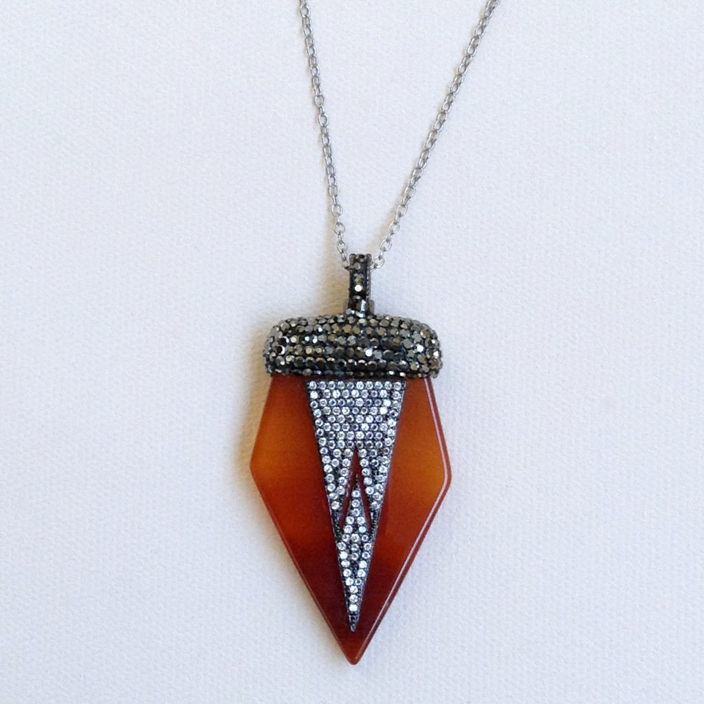 Vintage Inspired Carnelian Necklace
